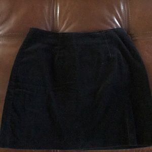 Black Velet mini skirt